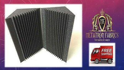 "4 Pack Acoustic Foam Bass Trap Recording Studios Corner Panel 12"" X 12"" X 24""."