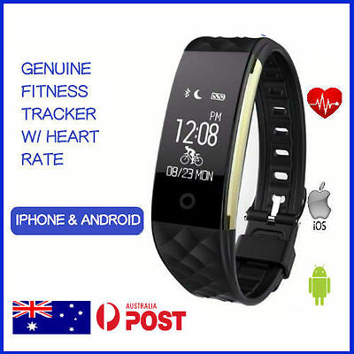 Waterproof Fitness Heart Rate Activity Tracker Fitbit Style Wristband pedometer