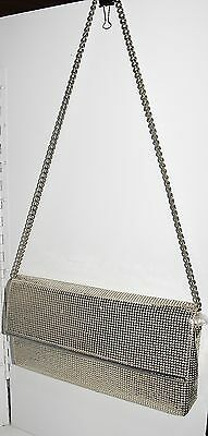 Vintage 70s Glomesh Large Silver Mesh Evening Clutch Bag Made In Australia.