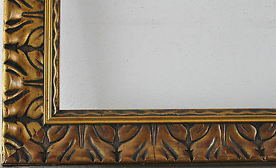 Wood Frame Decorated Gold Internal Dimensions approx. 50x70 cm