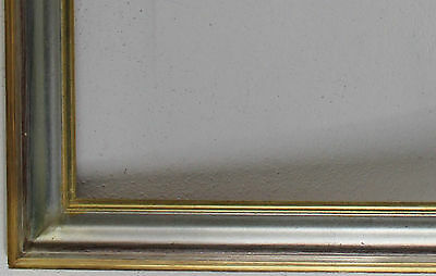 Wood Frame Silver Gold approx. 64 x 84 cm inside dimension