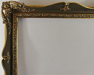 Wood Frame Decorated Brown and Gold Inside Dimension approx. 81,5 x 101,5 cm