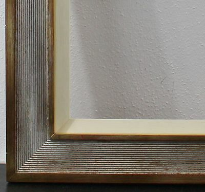 Wood Frame Gold White Brown Inside Dimension approx. 61X71 cm