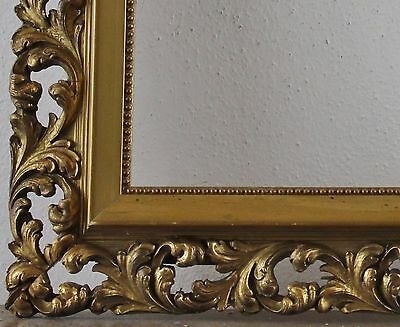 Decorated Wood Frame Gold Inside Dimension approx. 30,5 x 44,5 cm
