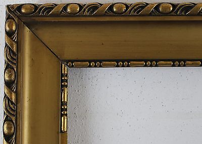 Wood Frame Golden Brown Rebate Size approx. 51,5X36,5 cm