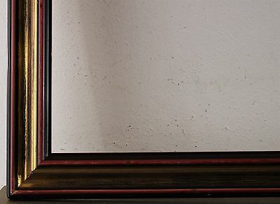 Wood Frame Gold Red Brown Rebate Size approx. 70,5x75,5 cm