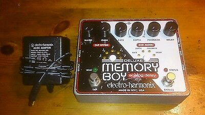 Electro-Harmonix Deluxe Memory Boy Analog Delay Guitar Effects Pedal