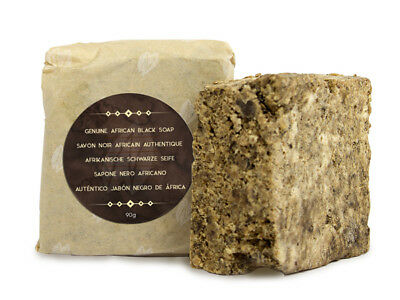 Naissance African Black Soap 90g with Shea Butter