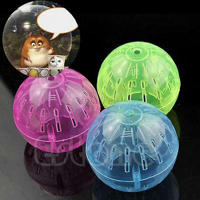 AU Pet Rodent Rat Jogging Running Mice Hamster Plastic Exercise Play Toys Ball