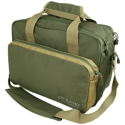 Jack Pyke Sporting Shoulder Bag Hunting Satchel Shooting Carry Pack Green Tan