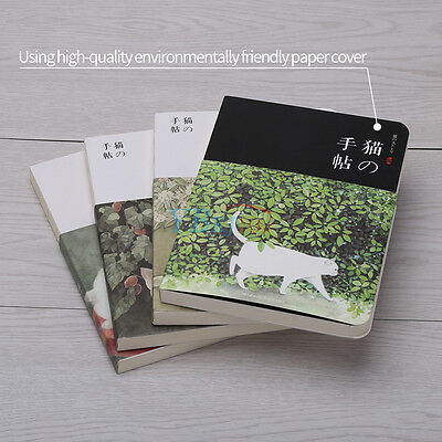 Hardcover Paper Blank Diary Notebook Diary Sketch White Sketchbook Cat Series st