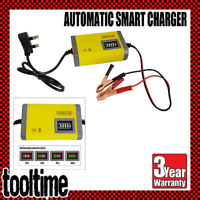 6V 12V 4A Intelligent Automotive Car Bike Motorcycle Lawnmower Battery Charger