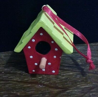 Mary Engelbreit Polka Dot Birdhouse everyday or Christmas Ornament Vintage 90s