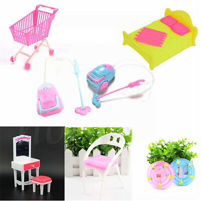 Dollhouse Miniature Furniture Accessories For Barbie Living Room Toys Kids Gift