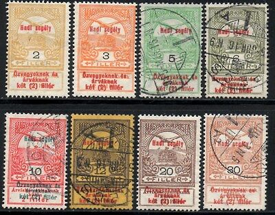 Hungary 1914 War Aid Issues Selection 8 Values SG.154 Onwards Mint Hinged + Used