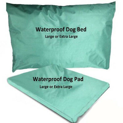 Green Waterproof Dog Beds UK Made In 2 Sizes With Removable Waterproof Cover