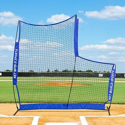 7ft x 7ft FORTRESS Portable Baseball Pop-Up L-Screen [UK Seller/24hr Shipping]