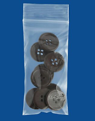 Small Zipper Seal Zip Lock Top Reclosable Poly Plastic Bags 2x4, 2x5 2 Mil Thick