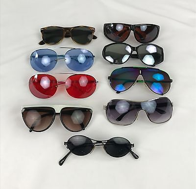 Lot of 9 Vintage Retro Sunglasses