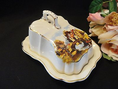 "Vintage Sandland Ware ""The Jolly Boatman"" Lidded Cheese/Butter Dish"