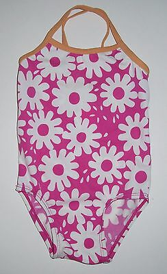 New Old Navy Girl's Swimsuit Size 12 18 24 months 2T Floral Print One Piece Pink