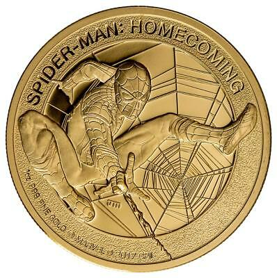 Cook Inseln - 200 Dollar 2017 - Spiderman - Homecoming - 1 Unze Gold PP Proof
