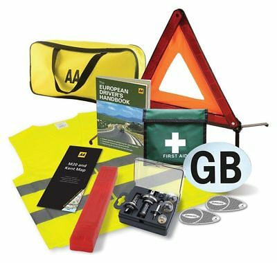 AA European Travel Breakdown Kit Bag Pack Legal Requirements Universal Buld