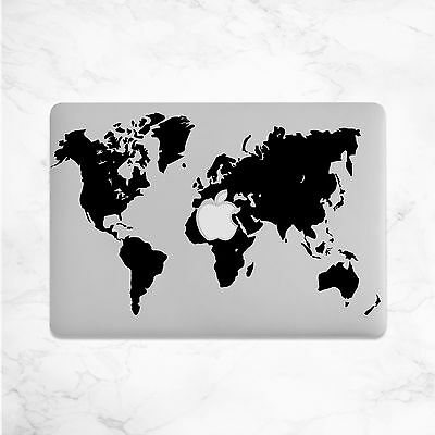 World Map Decal for Macbook Pro sticker vinyl air mac 13 15 11 laptop skin funny