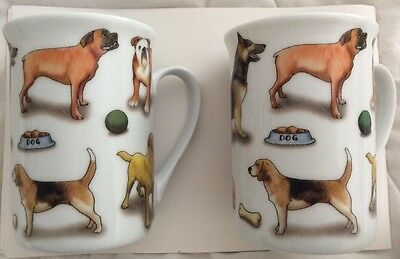 Pair of Paul Cardew Mans Best Friend 9oz Dog Mugs With Boxes