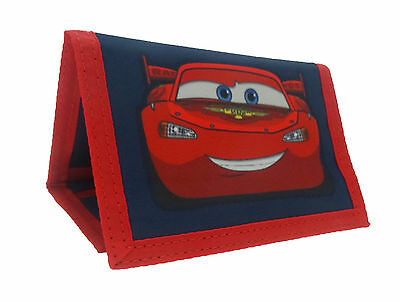 Disney Cars Lightening McQueen Tri-Fold Wallet | Purse with Coin Zip Compartment