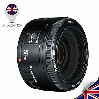 YONGNUO YN 50MM F1.8 Large Aperture Auto Focus Lens For Canon EOS EF Camera UK