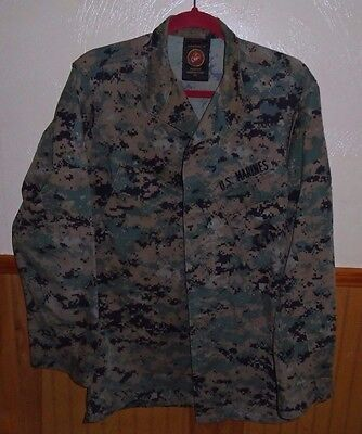 Usmc BDU Woodland Marpat Digital Camo Top Size Small/Long