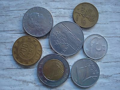 Italy Lot Coin,  Pre-Euro Italian Coins,  Free Shipping!!! Lot #82