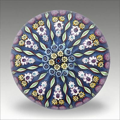 Vintage Perthshire PP1 millefiori and twist glass paperweight / presse papiers