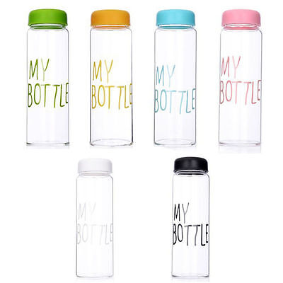 Portable Clear My Bottle Sport Plastic Fruit Juice Water Cup 500ML Drink Cup