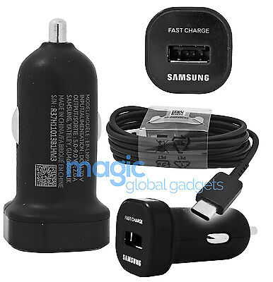 Genuine Mini Samsung Adaptive Fast Charge Car Charger & Type-C Usb Data Cable