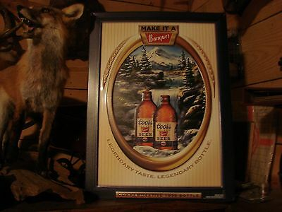 Coors Make It A Banquet, Commemorative 1936 Bottle, Embossed Tin Beer Sign