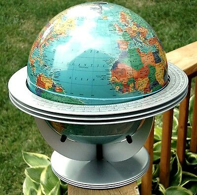 "The Classica from Cram Globes 12"" Globe with Free Floating Cradle Retro Jetson!"