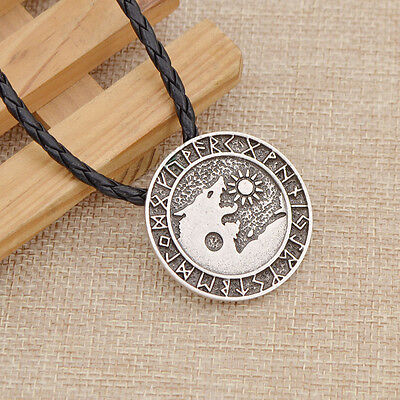 Gothic Men Viking Wolf Pendant Necklace Norse Viking Fashion Jewelry Silver 1 Pc