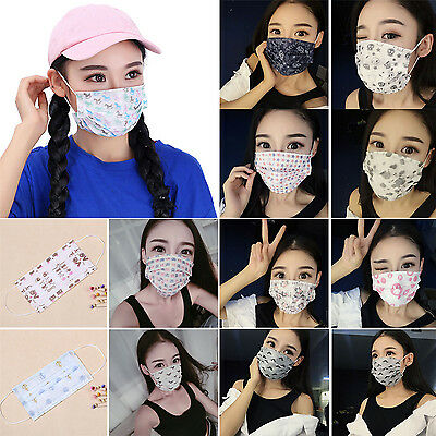 20x Black Non-woven Disposable Medical Dust Mouth Surgical Face Mask RespiratorR