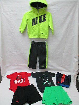 7 Piece Lot Infant Boys Under Armour Adidas Nike 6-12 Month (7-136)