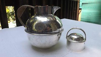 Hand Hammered Silverplate Teapot EGW&S 6/3