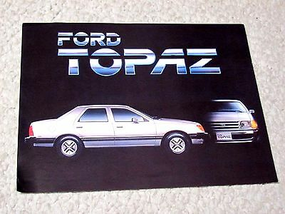 1984 Mexican Ford Topaz Sales Brochure..
