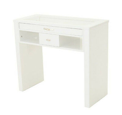 Professional White Wooden frame Manicure station table Spa table with 2 drawers