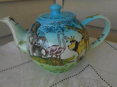 Cardew Design Noah's Ark Teapot Colorful Made England MINT