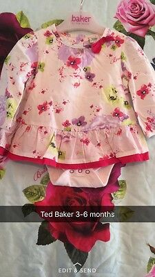 🎀 Ted Baker Baby Girl Integrated Vest/ Top 3-6 Months 🎀