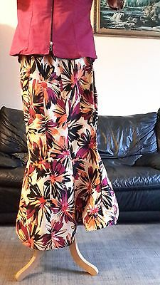 African Cotton  Print Fishtail Skirt/Blouse UK Size 14/16