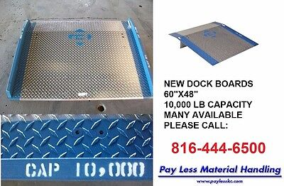 """Truck Container Loading Dock Plate Ramp 36"""" W x 36"""" L, 2500 lb, 3/8"""" Alum"""