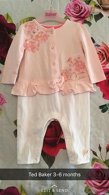 🎀 Ted Baker All In One Romper 3-6 Months Baby Girl 🎀