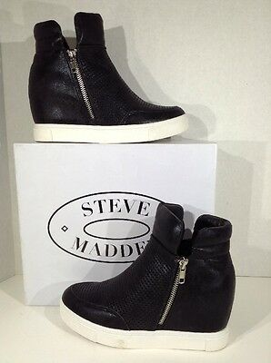 STEVE MADDEN Linqsp Women's Size 7.5 Black Casual Fashion Sneakers Shoes X2-918